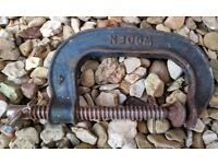 """Vintage 4"""" Heavy Duty G-Clamp"""