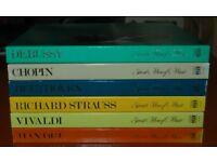 Time Life Great Men Of Music 6x4 LP Box Sets - Beethoven, Handel, Vivaldi, Chopin, Debussy & Strauss