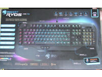 ROCCAT Ryos MK FX RGB Mechanical Gaming Keyboard Cherry MX Brown UK model