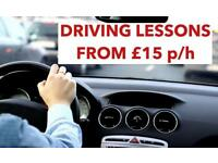 Manual driving lessons form £15 per hr **** High pass rate ****