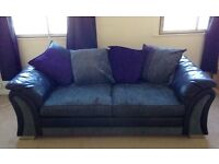 Charcoal/black 3 Seater DFS Sofa