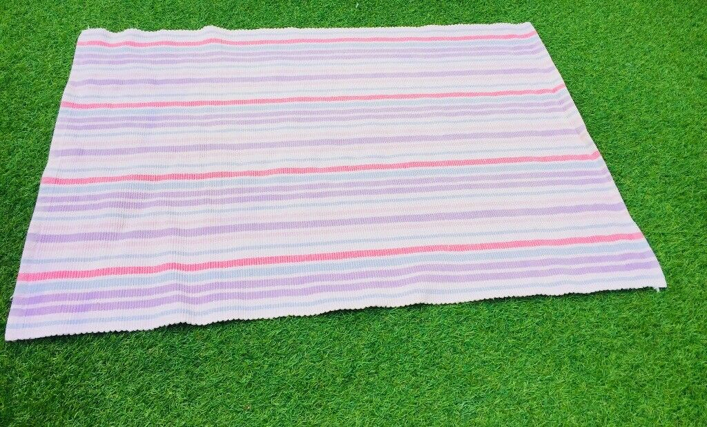 2c47965e3bba Laura Ashley Pink Candy Stripe Childrens rug Bedroom Nursery