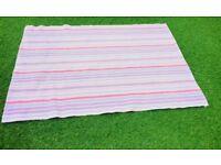 Laura Ashley Pink Candy Stripe Childrens rug Bedroom Nursery