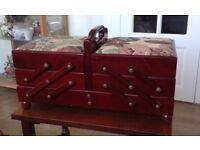 Sewing Box - Classic style in dark wood