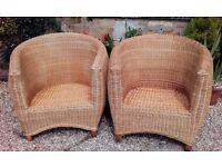Wicker Garden/Conservatory Chairs