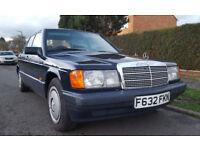 Classic 1989 Mercedes Benz 190E Automatic Petrol Saloon Quick Sale Bargain