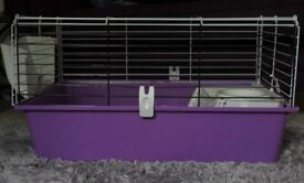 Rabbit/Guinea Pig cage for sale + wooden rodent house and accessories