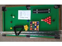 Pool 3ft table for table snooker or billiards 96x55x9 - very good condition
