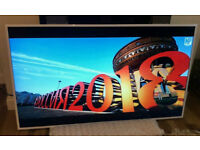 White 55in Samsung Smart 1080p LED TV WI-FI Freeview HD [NO STAND]