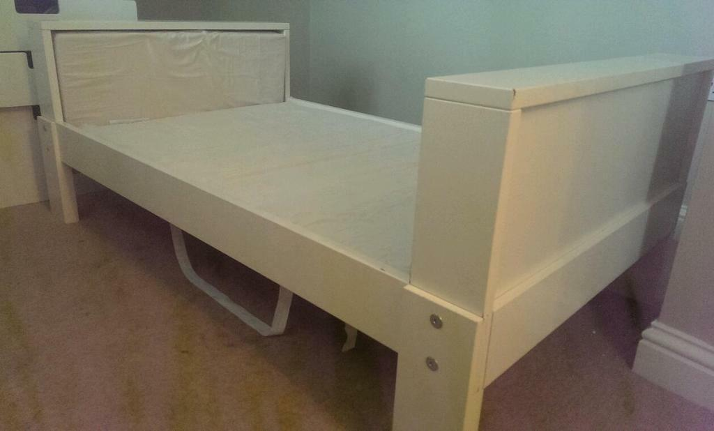 free white ikea junior bed in norwich norfolk gumtree. Black Bedroom Furniture Sets. Home Design Ideas