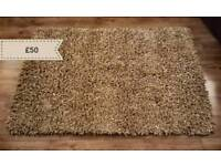 Neutral Taupe Textured Rug