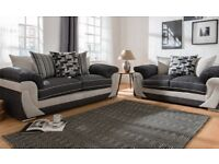 EXPRESS FREE DELIVERY HANNAH 3+2 SEATER SOFAS