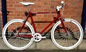 Brand New Ferrari Red Fixation London Single Speed Bike