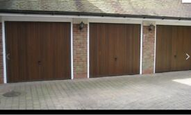 "Cardale Futura Cedar Timber Up and Over Garage Doors 7'6"" x 7'0"". Two available"