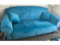 Medium Sofa in Fine Velvet Teal George Home - Elliott model