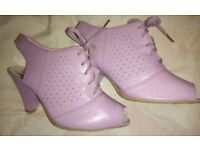 Bao LiSHi ladies Lilac Heeled Shoes - Sizes 6 & 7 BNWB