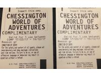 Chessington World of Adventures Entry Tickets x 2 EXPIRY THURSDAY 19th OCTOBER 2017