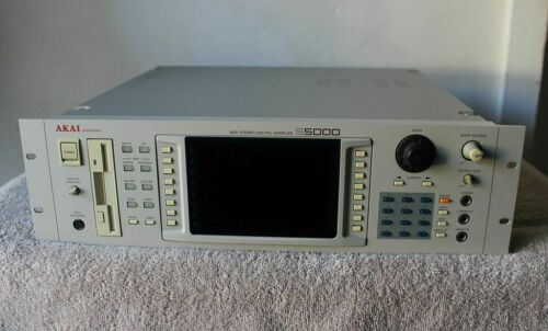 Akai S5000 V2 Stereo MIDI Digital Sampler w/ Manual & Disks