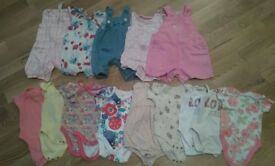 Large bundle of girls clothes newborn 0-3 months