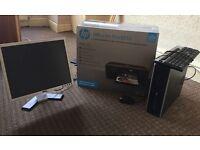 """Fast HP Desktop Pc Tower Quad Core 1 TB HDD 8GB Ddr2 19"""" Monitor Wi-Fi Windows 10"""
