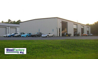 Steel Factory Mfg 50x50x16 Prefab Auto Repair Commercial Truck Storage Building