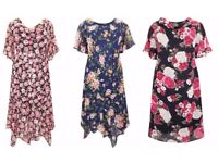 Bundle of Brand New Wholesale Plus Size Floral Dresses Perfect for Resale Sensible OFFERS Considered