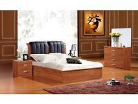 A Single/Double/Kingsize Wooden Ottoman Storage Bed Frame