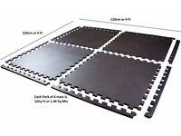 Interlocking Gym Mat Floor Guard Play Mat Garage Floor Mat 4 Pack Mats Floor Guard UKFitness NEW