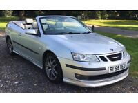 SAAB 9-3 Aero Convertible 2005 (55) 2.0 Turbo 210 bhp - Full Leather - Just Had Full Service - MOT