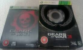 Gears of War & GOW 3 Limited Edition Xbox 360 Games
