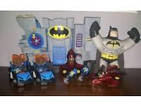 Batman castle 2 batmobils bikes and robin rockets and brawling buddy batman