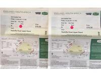 2 England South Africa Cricket Tickets Trent Bridge Day 1 Fri 14 Jul Row A Radcliffe Road Upper