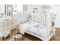 Luxury Dorma Bunny Meadow - Quilt & Bumper Set with Toy for Cot Bed - New