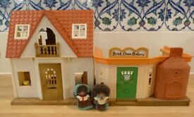 ✨Sylvanians Family Hedgehogs House + Pizza Restaurant & take-away +4 customers ✨