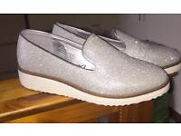 Silver size 5 shoes