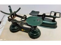 Vintage Traditional Librasco Green Kitchen Scales Plus unknown other set (see photos)