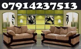 Dino 3 + 2 Or Corner Black / Grey & Brown / Beige Sofa this week only 32