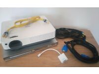 Home Cinema Bundle! Sanyo PROxtraX Projector, 2x2m Projector Screen, Philips DVD player, VGA Cable