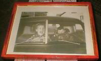 'Young driver, frightened passenger' -great Original1950's pic-