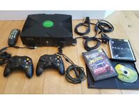 XBOX original console, accessories and games for sale