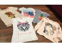 Girls t-shirt Bundle age 8-9 years NEXT M&S H&M