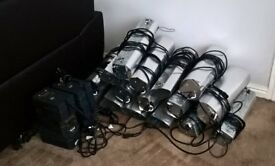 16 reflector lamps and 6 ballasts