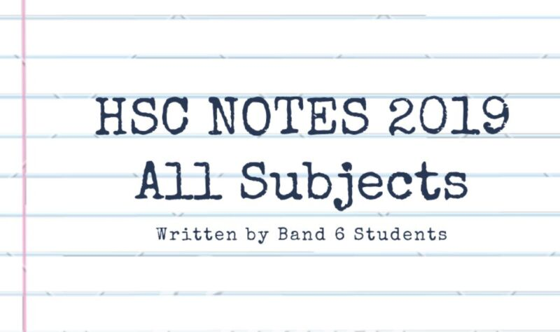 HSC NOTES AND RESOURCES 2019 SYLLABUS ALL SUBJECTS | Other