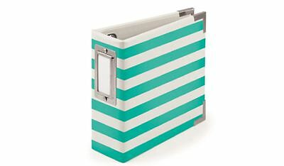 We R memory Keepers 4x4 Ring Album ~ NEON TEAL  Stripes -10pg ~30824-9 ()