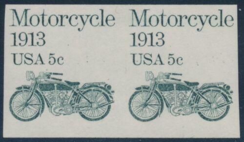 """#1899a """"motorcycle"""" Imperf Coil Pair Rare Major Error Xf Nh Cv $1,750 Bu3909 Jn"""
