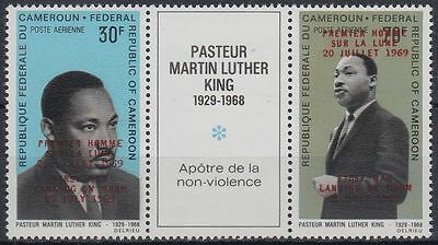 Kamerun Cameroun 1969 ** Mi.593 II, 597 I Weltraum Space Espace Luther King