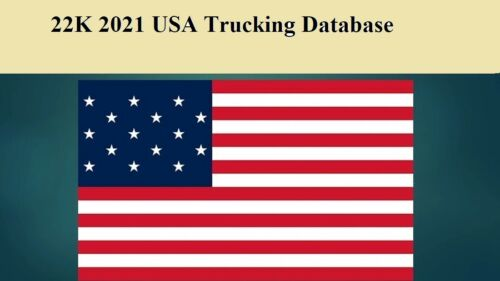 22K USA Trucking 2021 Email Database Sales Leads list Marketing