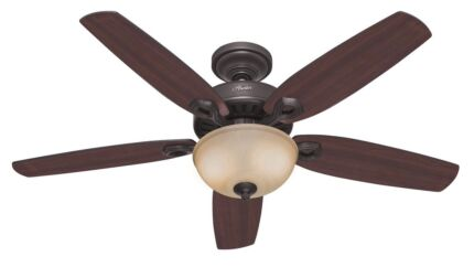 Super tempest 52 high performance ceiling fan air conditioning hunter builder delux new bronze indoor ceiling fan 52 or 132cm aloadofball Image collections