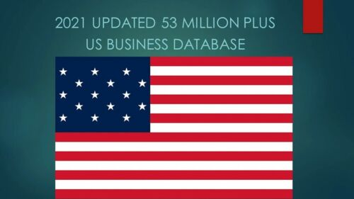 53 Million 2021 Latest USA Business Database Sales Leads Email list Marketing