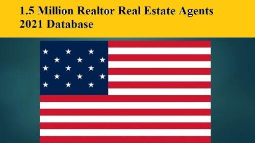 1.5 Million USA Realtor Real Estate 2021 Email Database Leads list Marketing